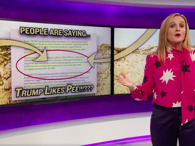 Sam Bee Returns With A Blistering, Gleeful Take on Donald Trump Russia, 'Golden Showers' Allegations