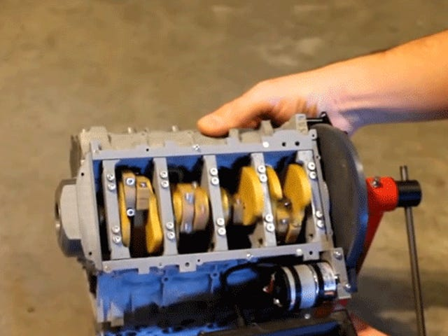 This Fully Working 3D Printed Chevrolet LS3 V8 Is The Coolest Thing