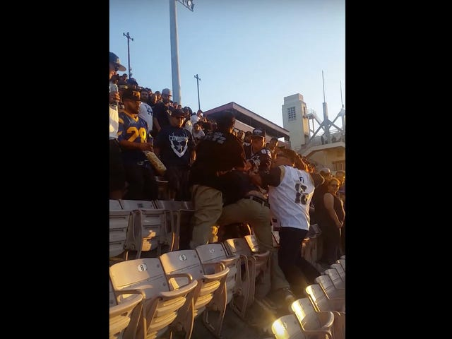 Rams Fans Welcome The NFL Back To L.A. With Wild Brawl In The Stands