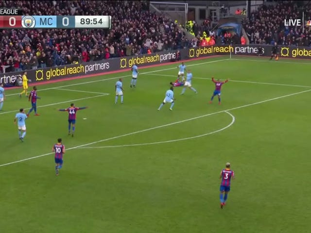Crystal Palace Penalty <i>Almost</i> Ends Man City&#39;s Unbeaten Run
