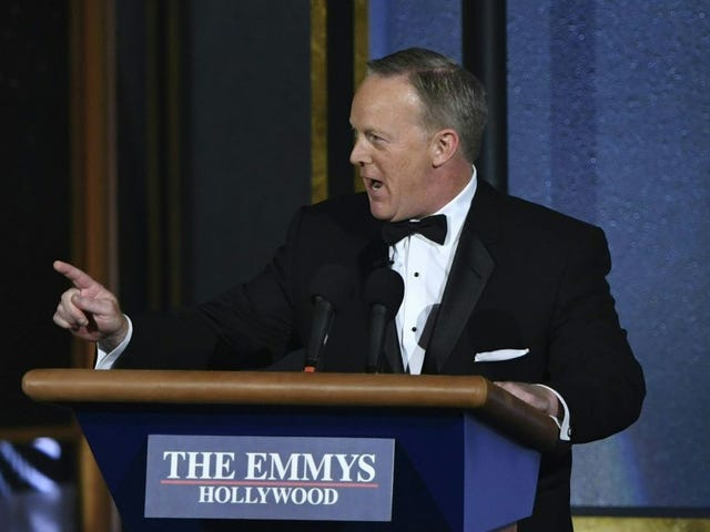 "<a href=""https://www.avclub.com/sean-spicer-for-his-part-thinks-his-emmys-redemption-1818514072"" data-id="""" onClick=""window.ga('send', 'event', 'Permalink page click', 'Permalink page click - post header', 'standard');"">Sean Spicer, for his part, thinks his Emmys redemption arc was ""kinda funny"" </a>"