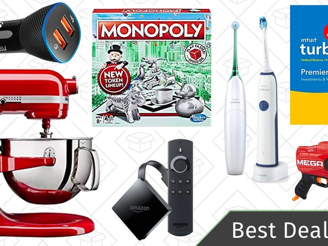 Monday's Best Deals: KitchenAid Mixers, TurboTax Software, Hasbro Games, and More