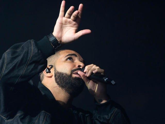 Drake, Still Evidently Head Over Heels, Dons Rihanna-Patterned Socks