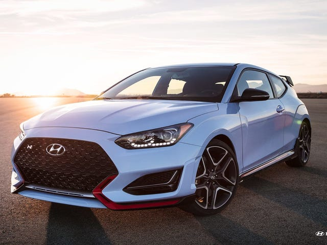 The 2019 Hyundai Veloster N starts at $27,785