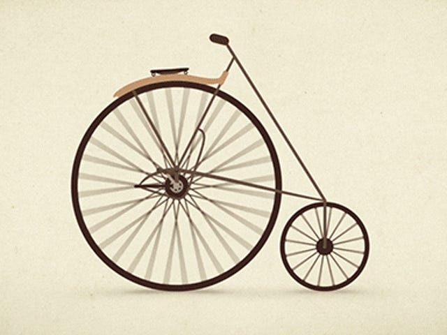 The evolution of the bicycle in less than one minute