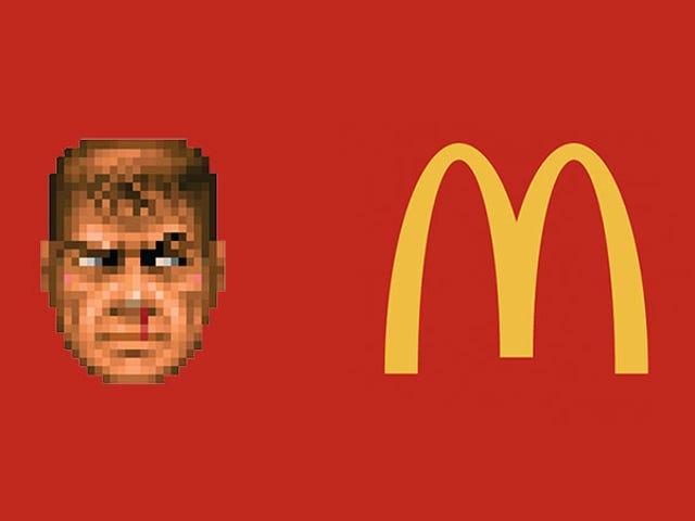 Guy obtiene Doom corriendo en una caja registradora de McDonald's