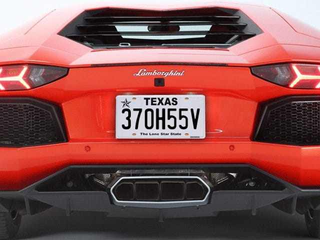 Texas Declares Man's License Plate Offensive To Upside-Down People