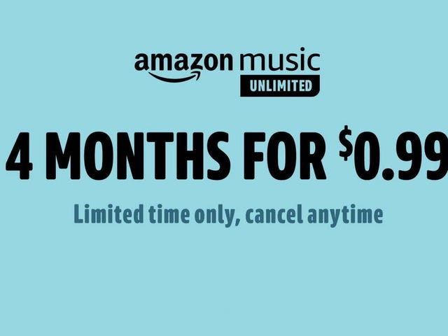 Get Your First Four Months of Amazon Music Unlimited For $1