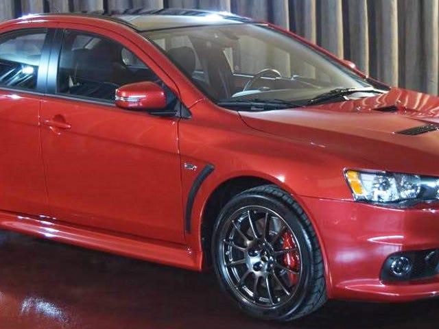 Το πρώτο από τα τελευταία Mitsubishi Lancer Evos κοστίζει $ 88,888 (Ενημερώθηκε)