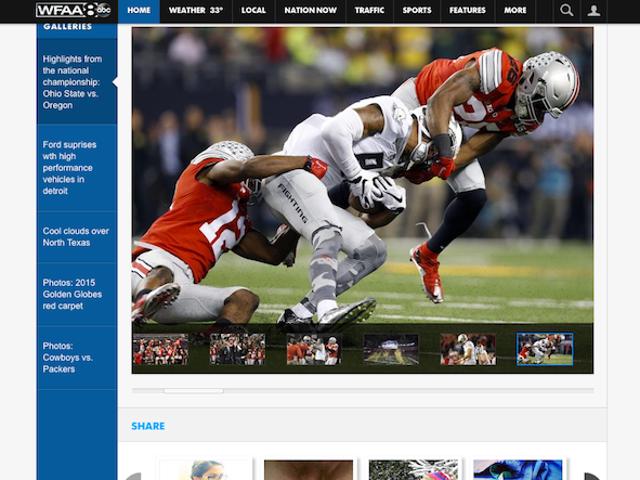 地元のニュースホームページは、ディックとボール(NSFW)の存在を賞賛