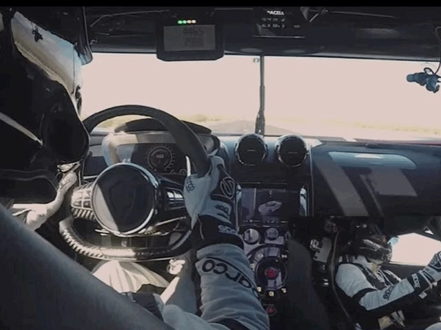Here's More Footage From Inside Koenigsegg's 284 MPH Run In Nevada