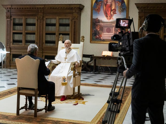 John Paul III sits down for his first televised interview as The New Pope