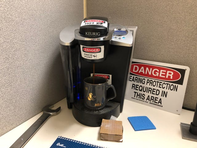 Behold the safety Keurig