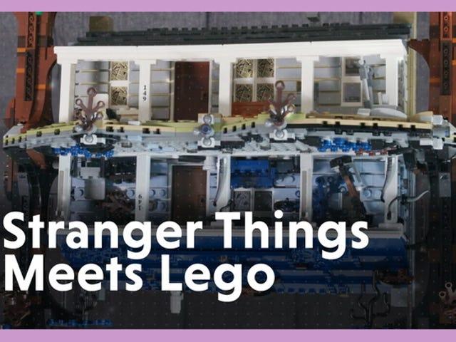 Vi byggede 2,300-stykke Stranger Things Lego Set og nu er vi på hovedet