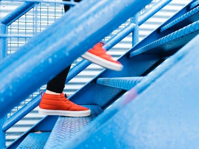 El tema del desafío físico de este mes es: Escaleras