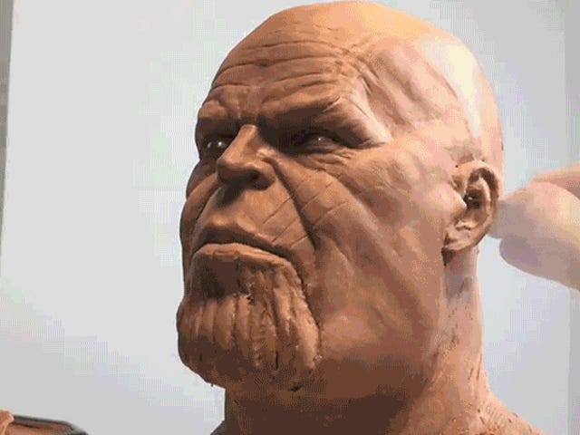 Watch This Talented Sculptor Make Thanos Magically Emerge From a Lifeless Lump of Clay