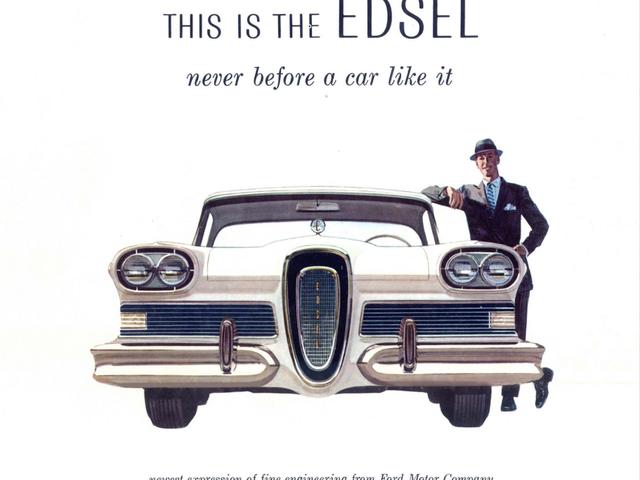 Einige Leute denken, Fords kurzlebige Marke Edsel aus den späten 1950er Jahren sei ausgestorben, weil die Autos hässlich waren