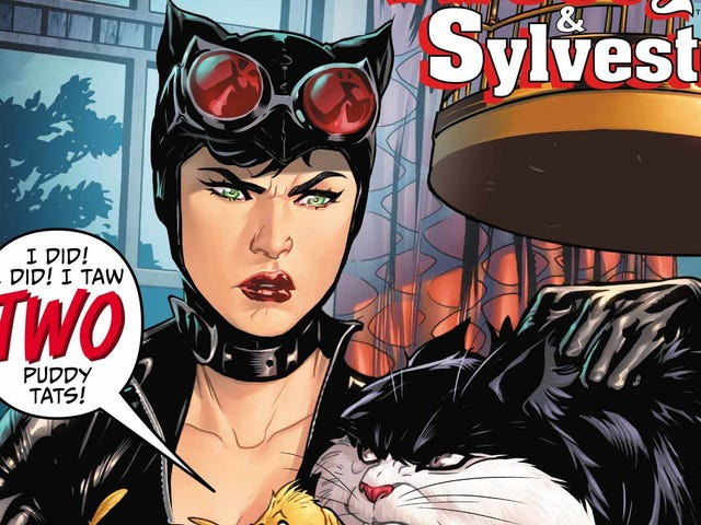 Cartoon antics come to Gotham in thisCatwoman/Tweety & Sylvesterexclusive