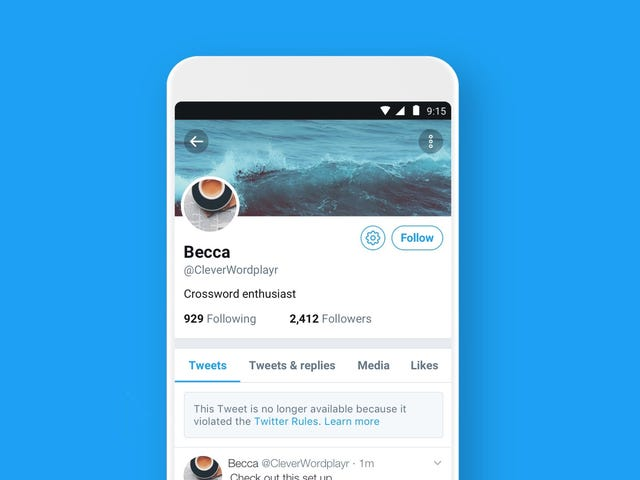 Twitter Makes it Easier to See When People Break the Rules