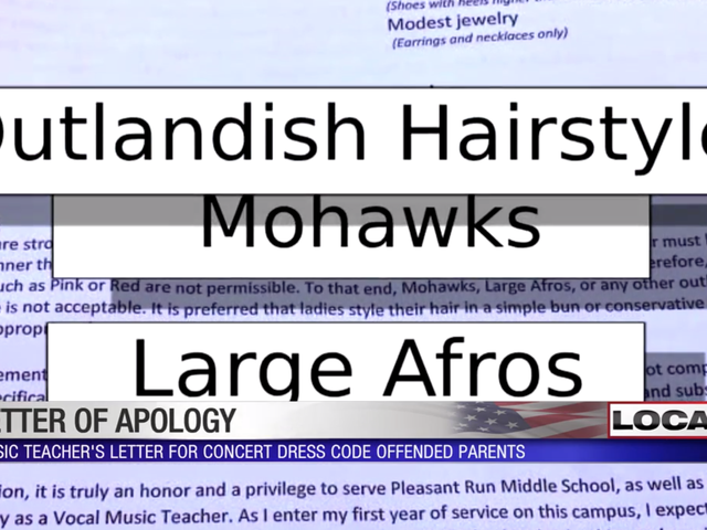 Teacher Apologizes After Banning Afros, Other 'Outlandish Hairstyles' From Student Concert