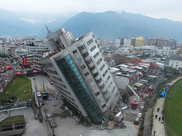 Powerful Earthquake Hits Taiwan, Partially Collapses Hotel