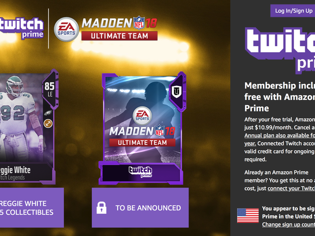 Get a Bunch of Free Madden Ultimate Team Legends With Amazon Prime