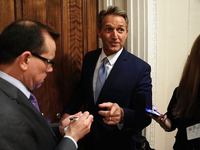 Sen. Jeff Flake Just Torched Trump on the Senate Floor, but Does This Really Mean He's an Ally?