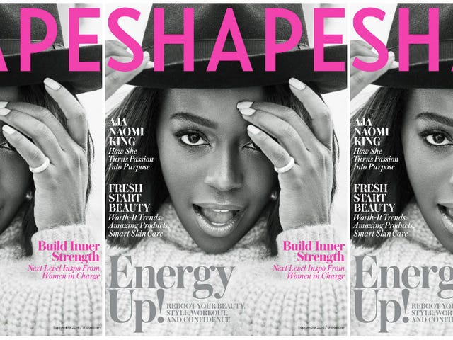 Aja Naomi King Gets Powerful for the Cover of Shape's September Issue