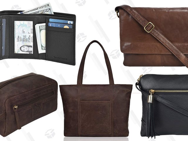 Grab a New Leather Something or Other From This One-Day Amazon Sale - Nearly Everything Under $35