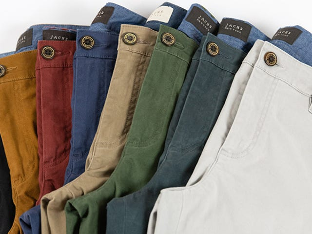 Step Into A Pair Of Soft, Comfortable Chinos From Jachs For Just $44 (50% Off)