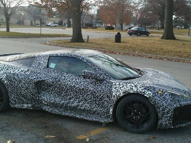 Mid-Engine Corvette Mule Spotted On Michigan Streets