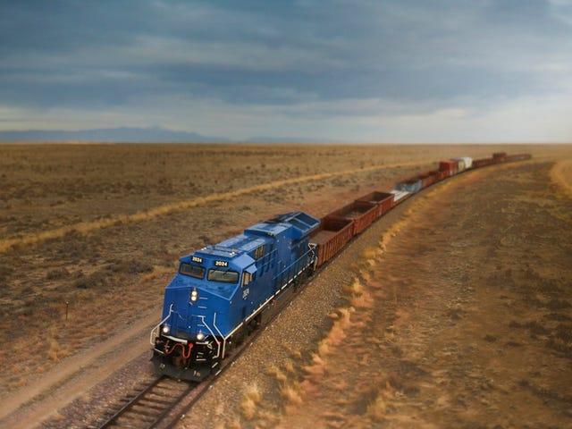 Das riesige Testgelände, auf dem außergewöhnliche neue Züge getestet werden