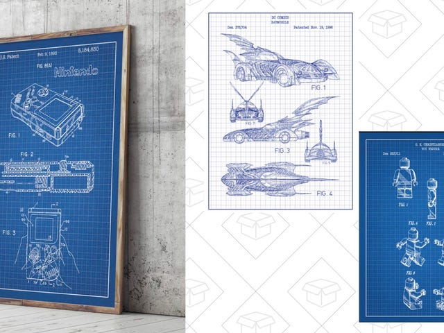 Channel Your Inner Inventor With These $15 Patent Prints