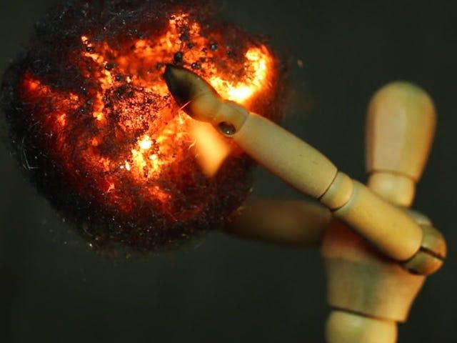 Staal verbranden!  Prachtig.