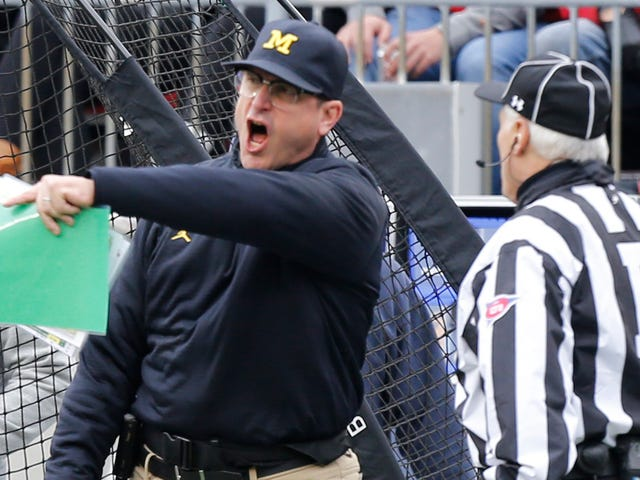 Big Ten Bøder Michigan For Jim Harbaughs Postgame Rant Against Officials