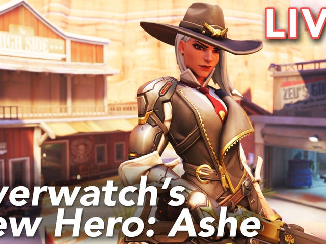 Cecilia is checking out Overwatch's new hero Ashe on our Twitch channel right now. Come watch over h