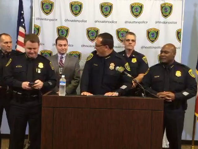 """Grandstanding Houston PD Chief Calls Michael Bennett """"Morally Corrupt"""" In Bizarre Press Conference"""
