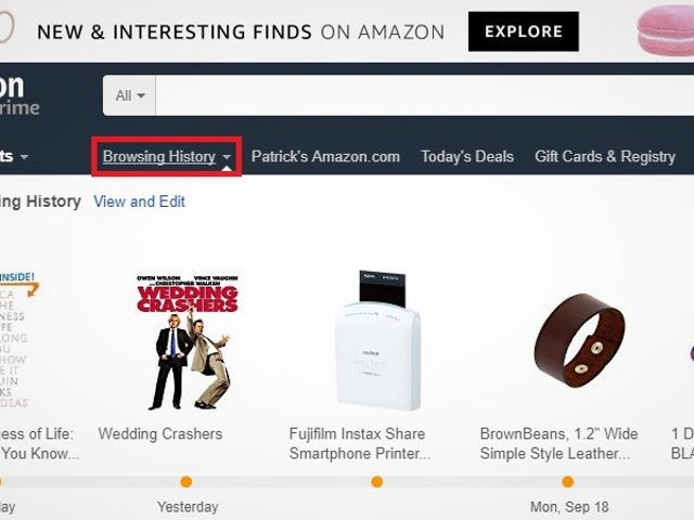 How to Clear Your Amazon Browsing History