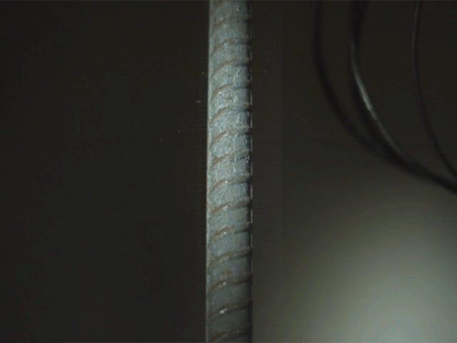 Watch a Reinforced Steel Rod Break Like a Weak Little Twig