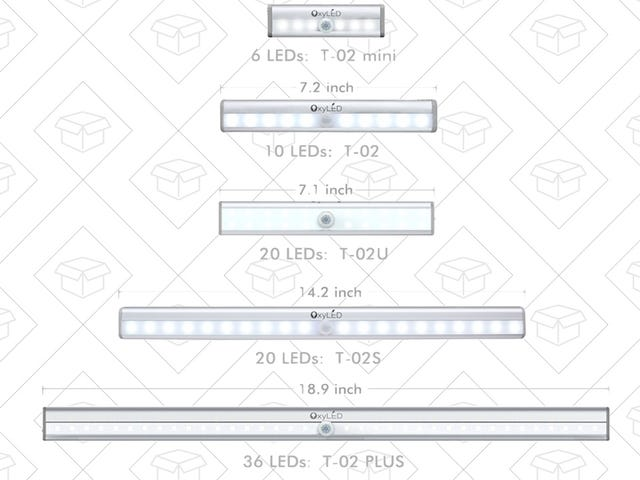 OxyLED's Most Popular Night Lights Now Come In Five Different Varieties