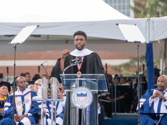 Chadwick Boseman, aka 'Blek Pentha,' Encourages Howard University's Class of 2018 to Always Seek Purpose