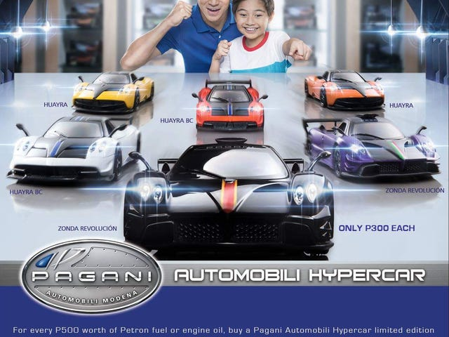 Petron does not want to be outdone; releases Pagani models