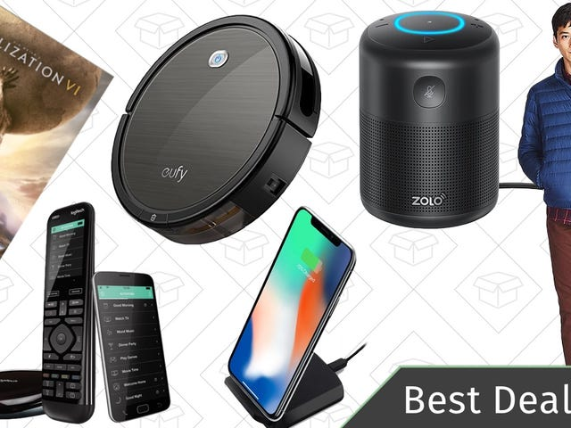 Monday's Best Deals: Alexa Speaker, Anker RoboVac, Down Jackets, and More