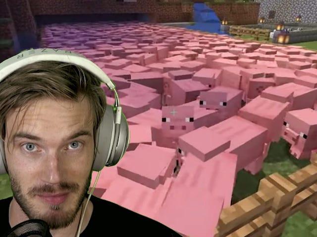 Minecraft est le meilleur jeu YouTube de 2019, grâce à un coup de pouce de PewDiePie