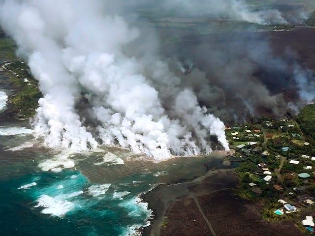 Hawaii's Kilauea-vulkaan is waarschijnlijk nu ten minste 350 huizen op het grote eiland vernietigd