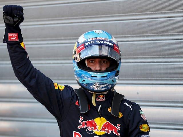 """Daniel Ricciardo agradece suas """"grandes bolas australianas"""" por seu primeiro pólo de Mônaco"""