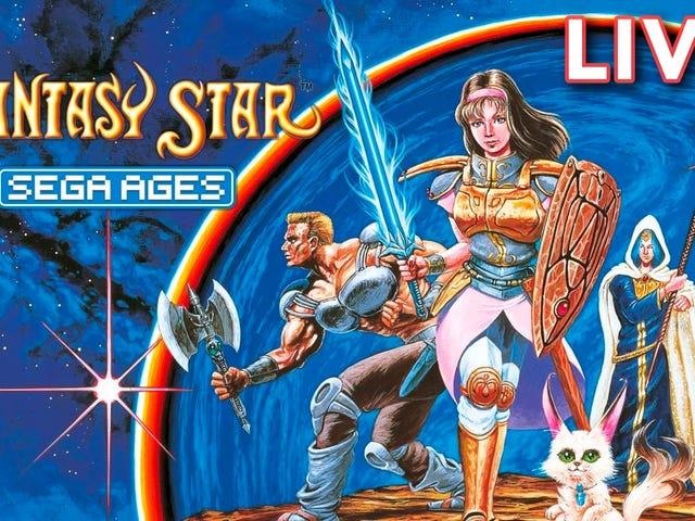 Eu (Tim Rogers) estou transmitindo a recém lançada versão Sega Ages do original Phantasy Star ga