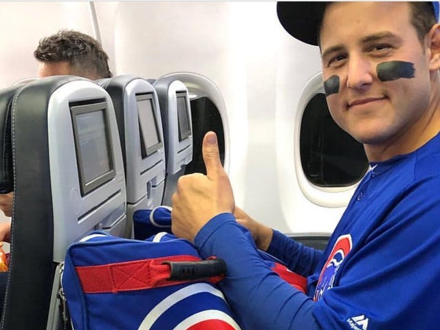 Anthony Rizzo Dealt With The Cubs' Insane Travel Schedule By Never Taking Off His Uniform