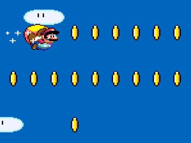 Donut Plains 1 de Super Mario World Mario como un hombre de gracia ballética