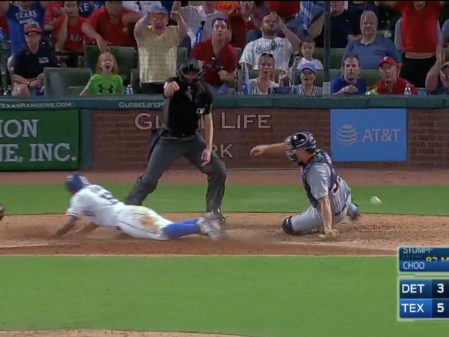 Rougned Odor Executes Straight Steal Of Home On Run-Scoring Balk